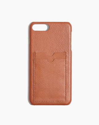Leather Carryall Case for iPhone® 6/7/8 Plus in english saddle image 1