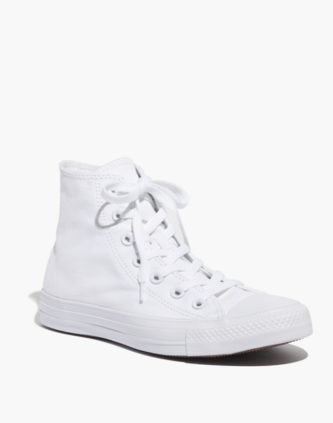 Converse® Unisex Chuck Taylor All Star High-Top Sneakers in White Monochrome