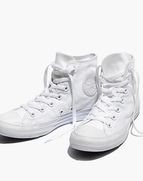 4f768d742848 Converse reg  Unisex Chuck Taylor All Star High-Top Sneakers in White  Monochrome in white