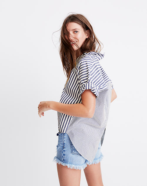 1e287abe Courier Button-Back Shirt in Stripe Mix