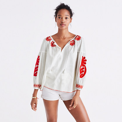 Pre-order Embroidered Blanca Top
