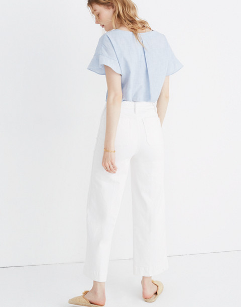 Sundrift Ruffle Top in craft blue image 3