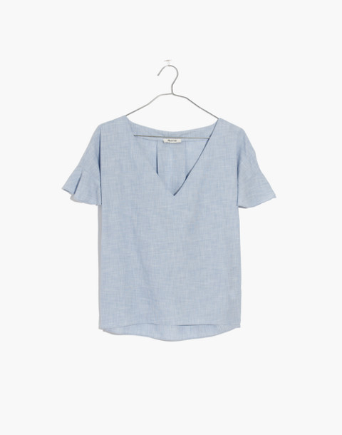 Sundrift Ruffle Top in craft blue image 4