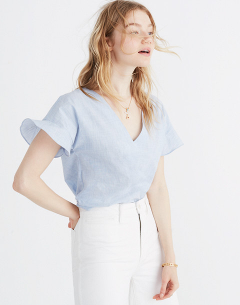 Sundrift Ruffle Top in craft blue image 1