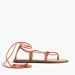 The Boardwalk Lace-Up Sandal in Suede
