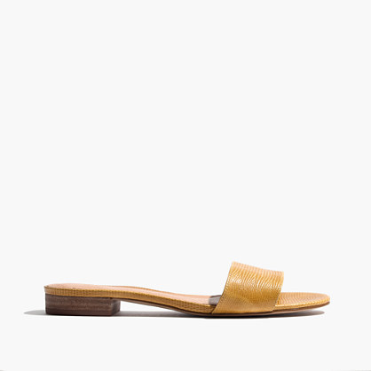 The Caren Slide Sandal in Embossed Leather