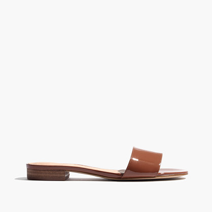 The Caren Slide Sandal in Patent Leather
