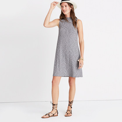 Marled Mockneck Swingy Tank Dress