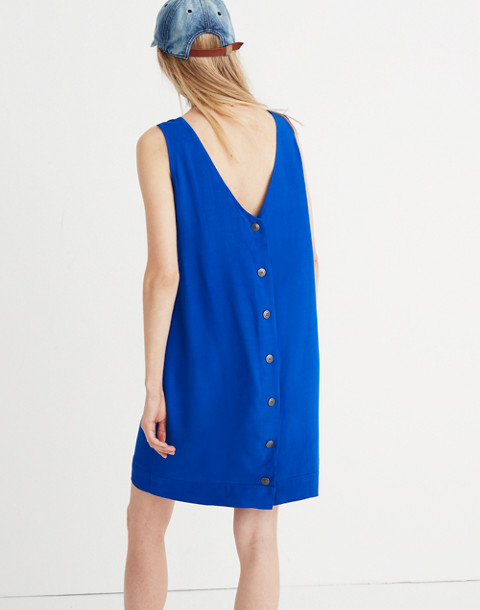 Lakeshore Button-Back Dress in brilliant royal image 2