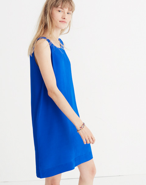 Lakeshore Button-Back Dress in brilliant royal image 3