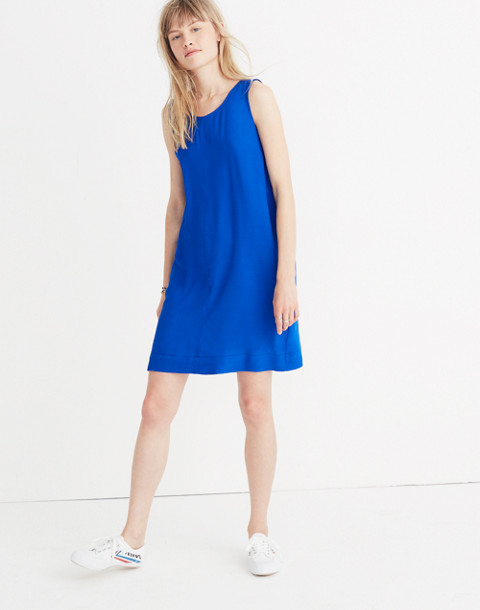 Lakeshore Button-Back Dress in brilliant royal image 1