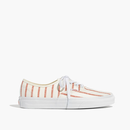 Madewell x Vans® Unisex Authentic Lace-Up Sneakers in Blush Stripe