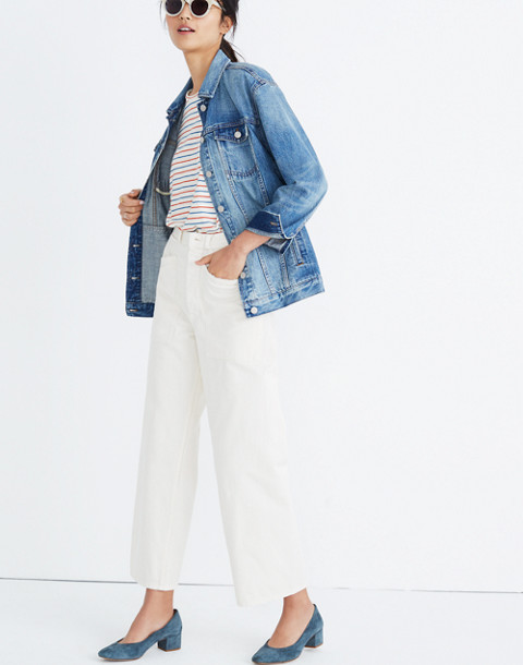 The Oversized Jean Jacket in Capstone Wash in capstone wash image 2