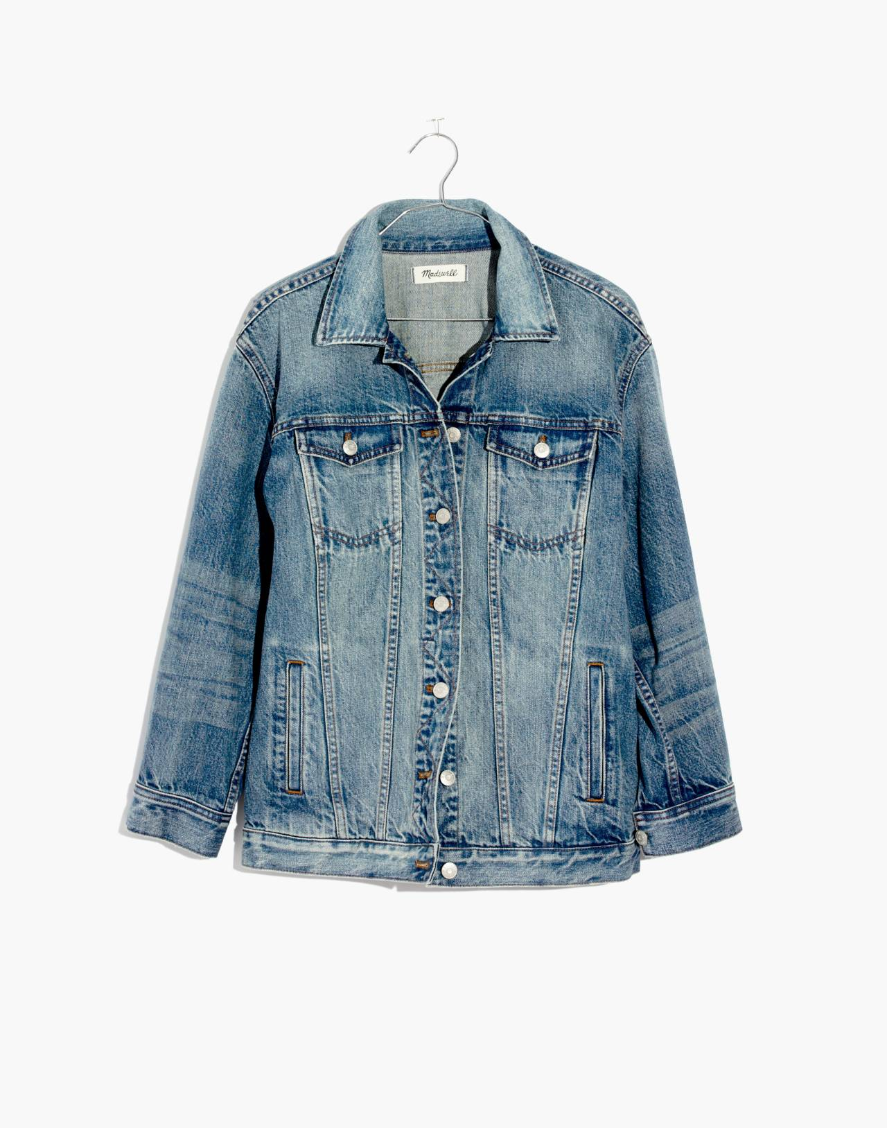 The Oversized Jean Jacket in Capstone Wash in capstone wash image 4