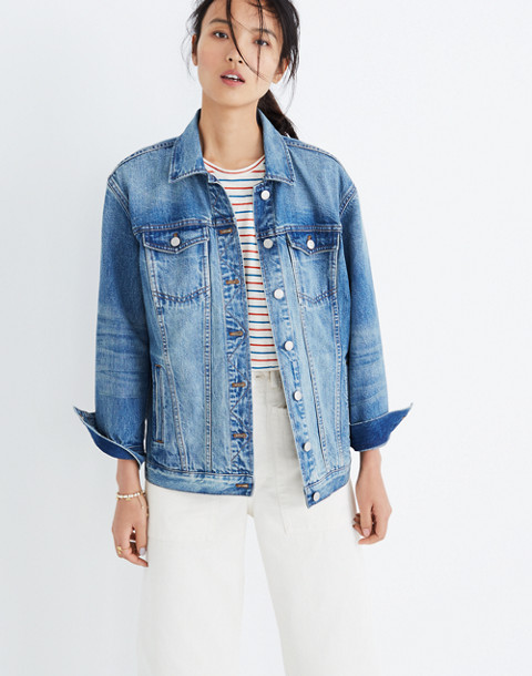 The Oversized Jean Jacket in Capstone Wash in capstone wash image 1