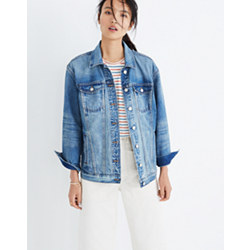 The Oversized Jean Jacket in Capstone Wash