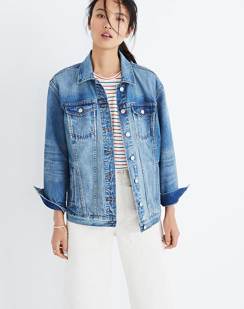 2b8d0b102638 The Oversized Jean Jacket in Capstone Wash in capstone wash image 1