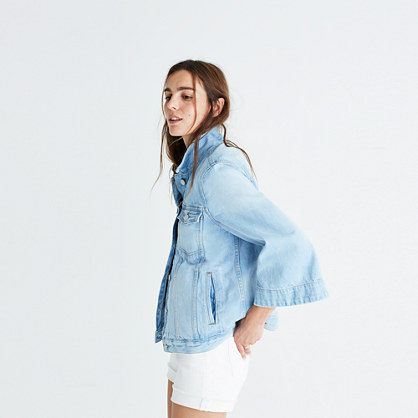 Bell-Sleeve Jean Jacket