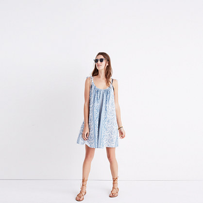 Havana Cover-Up Dress in Island Ikat
