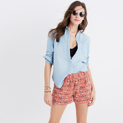 Kingston Cover-Up Shorts in Hula Flower