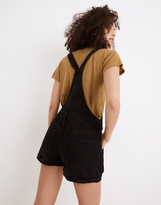 Adirondack Short Overalls in Washed Black