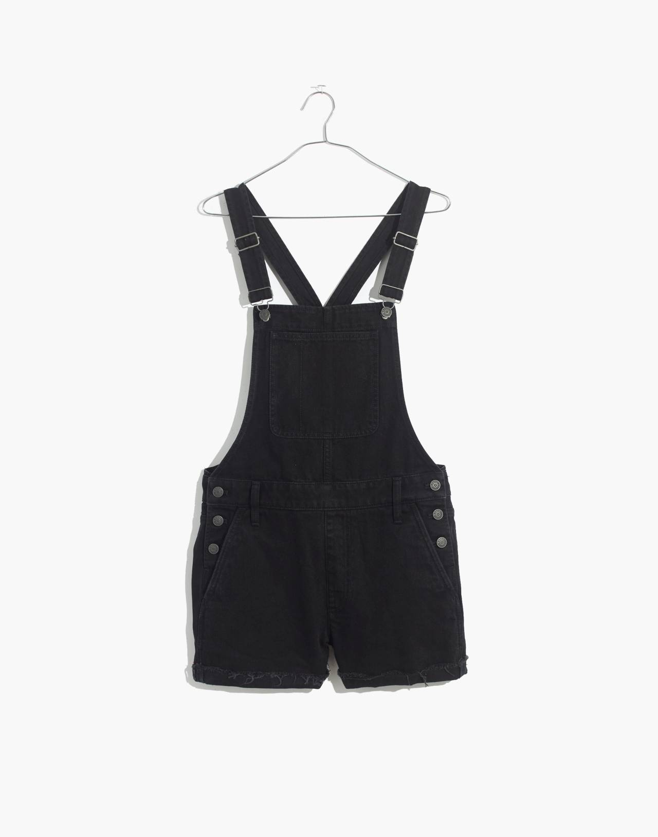 Adirondack Short Overalls in Washed Black in washed black image 4