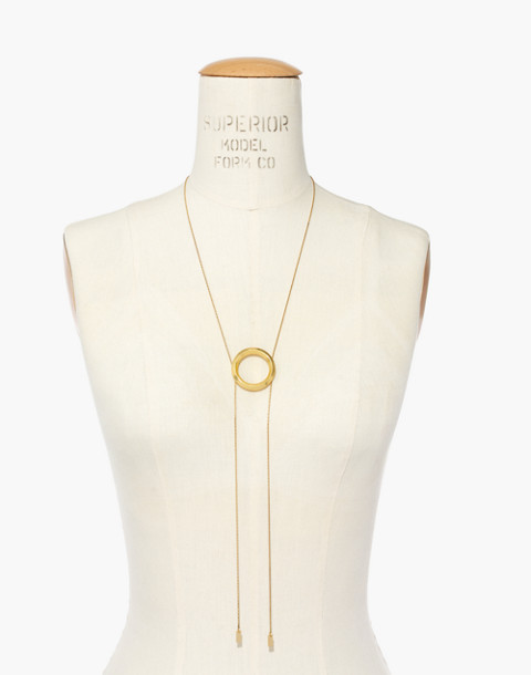 Sliding Ring Bolo Necklace in gold ox image 3