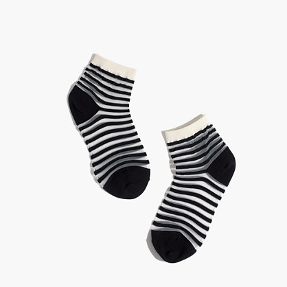 Sheer Stripe Ankle Socks