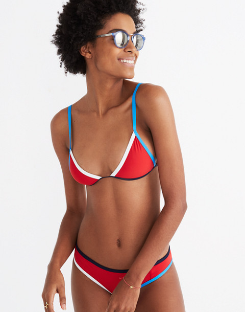 Tavik® Jett Colorblock Bikini Top in red white blue image 1