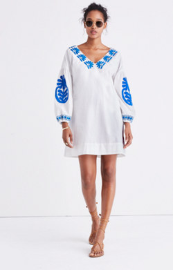 Embroidered Blanca Dress
