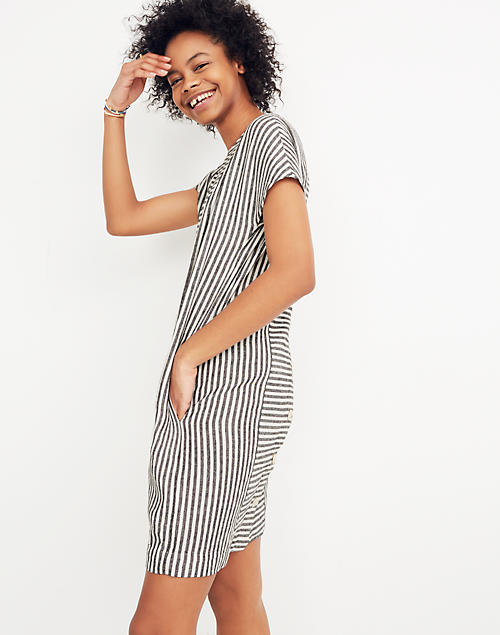 98c1be392bf Stripe-Play Button-Back Tee Dress