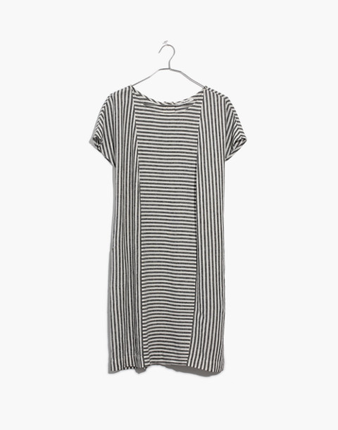 Stripe-Play Button-Back Tee Dress in warm nutmag image 4