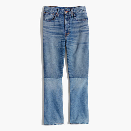 Retro Crop Bootcut Jeans: Two-Tone Edition