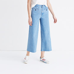 Tall Wide-Leg Crop Jeans in Edgeley Wash: Welt Pocket Edition