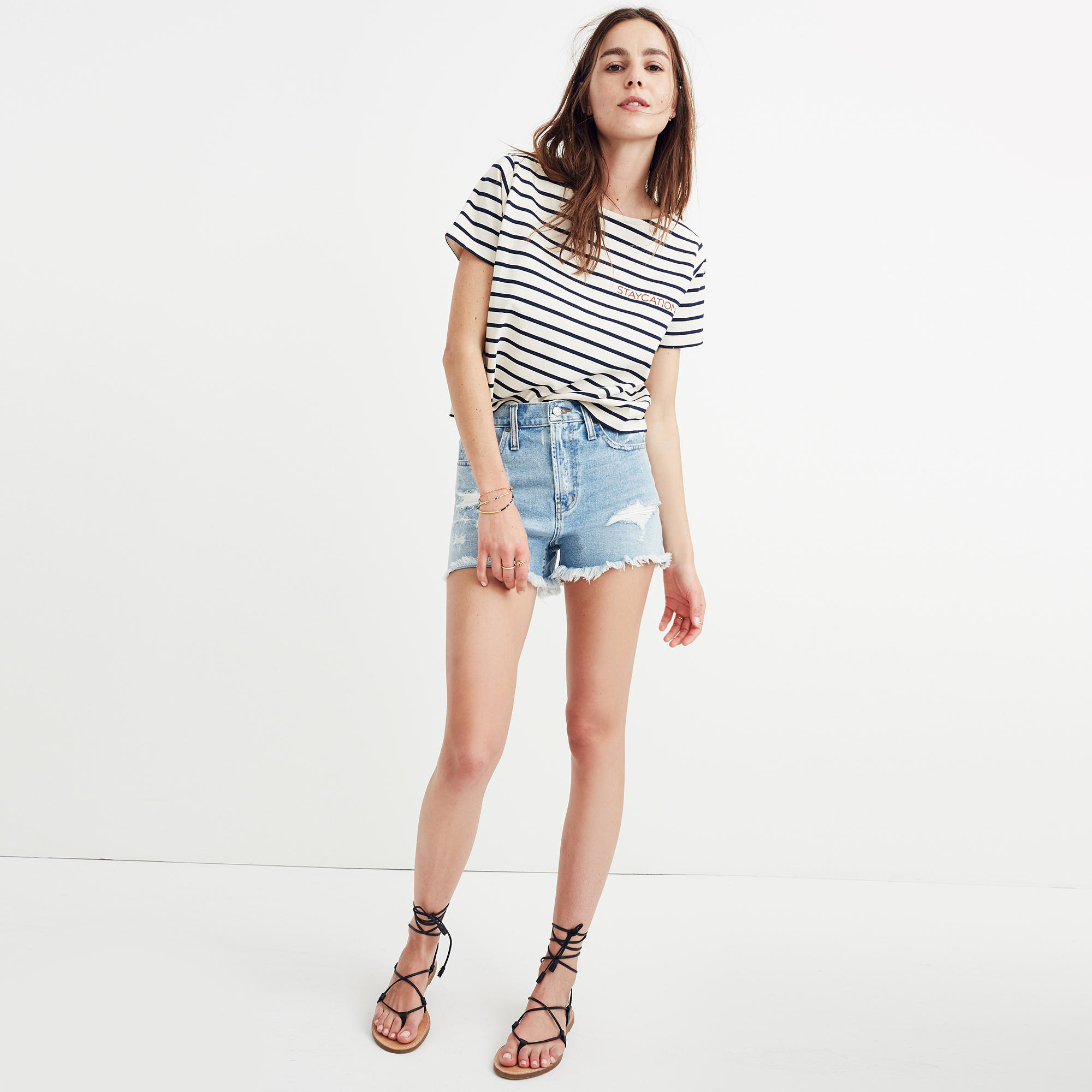 The Perfect Jean Short in Langdon Wash : shorts   Madewell