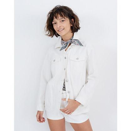 Pre-order The Oversized Jean Jacket in Tile White