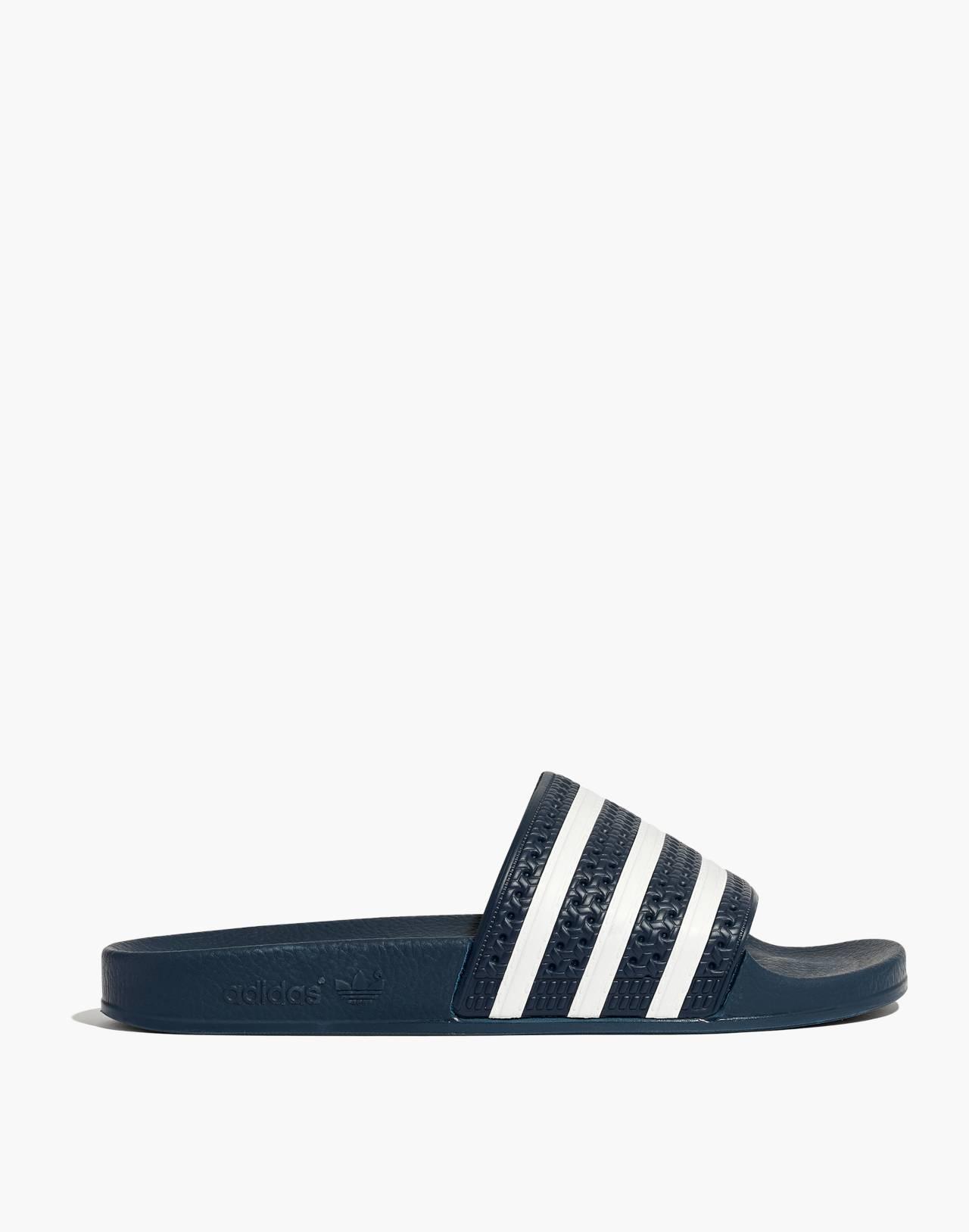 Adidas® Unisex Adilette® Slides in navy white image 2