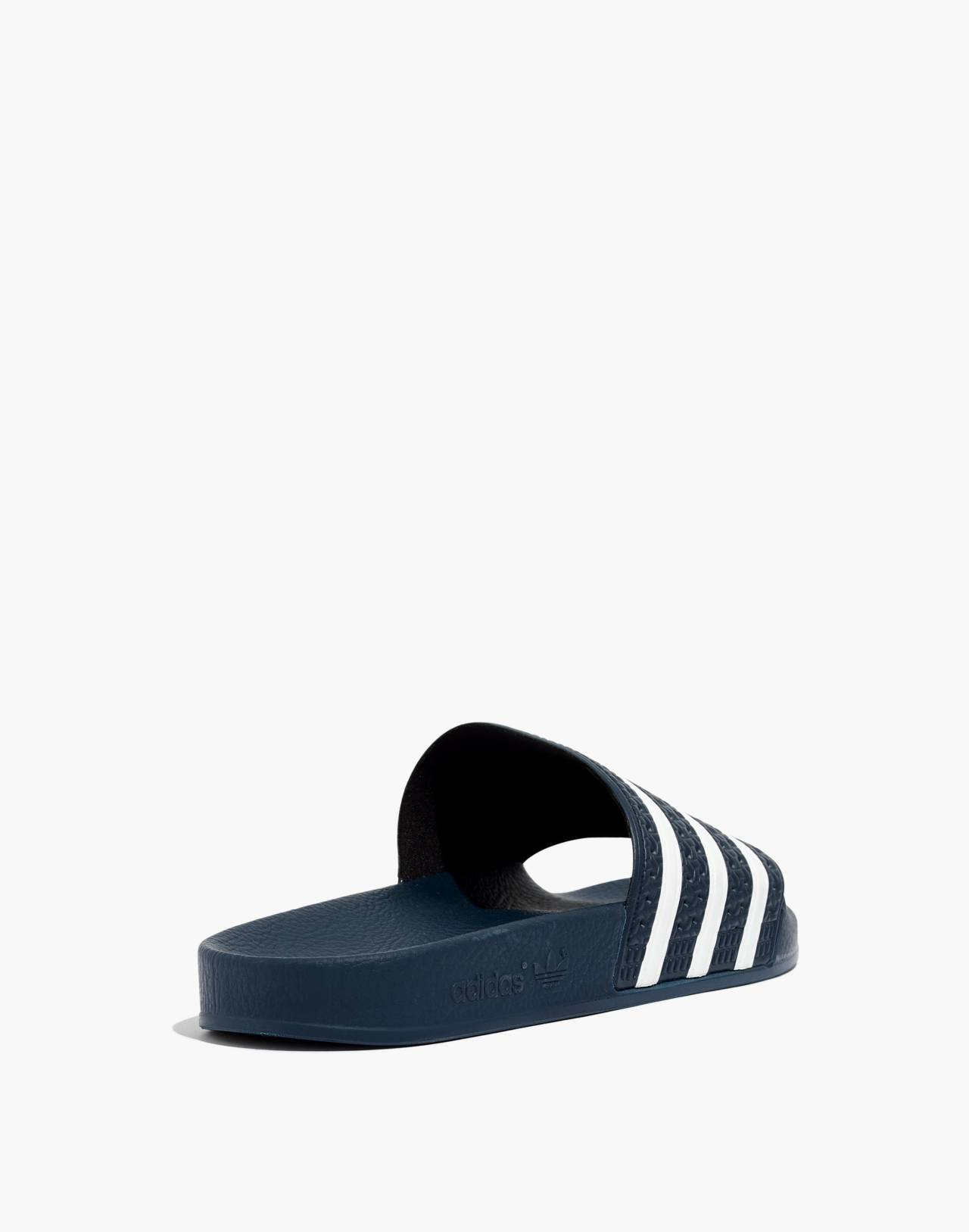 Adidas® Unisex Adilette® Slides in navy white image 3