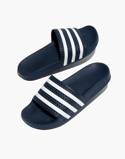 official photos fd3bd c0c76 Adidasreg Unisex Adilettereg Slides in navy white ...