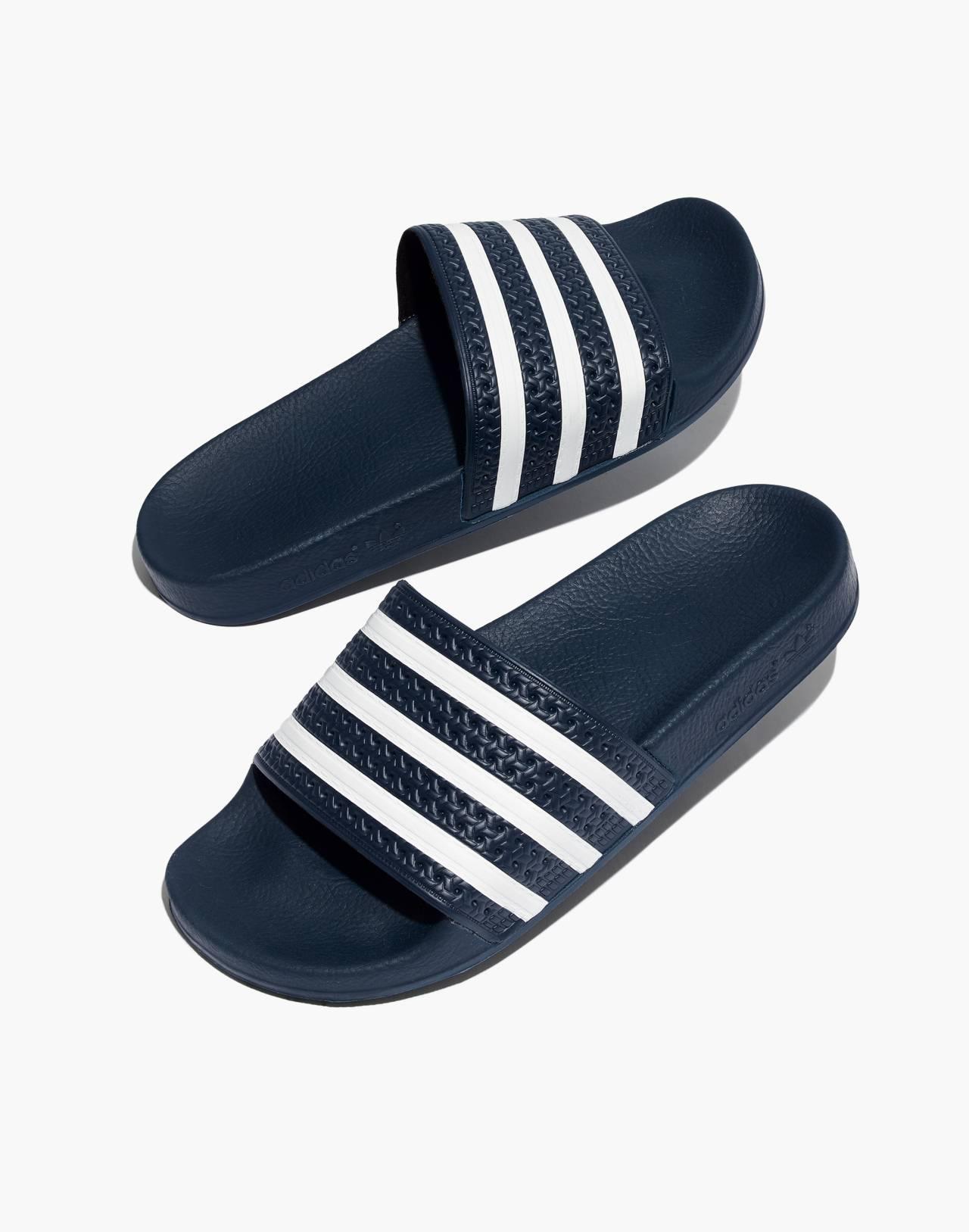 Adidas® Unisex Adilette® Slides in navy white image 1
