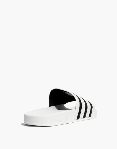 Adidas® Unisex Adilette® Slides in white black image 4