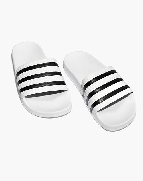 342e2fa6b2e5 Adidas reg  Unisex Adilette reg  Slides in white black ...