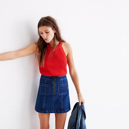 Zip Jean Skirt