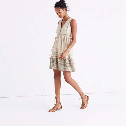Quilted Side-Tie Dress in Moroccan Desert