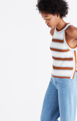 Valley Sweater-Tank in Stripe