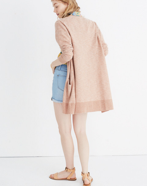 Summer Ryder Cardigan Sweater in Stripe in heather blush image 3
