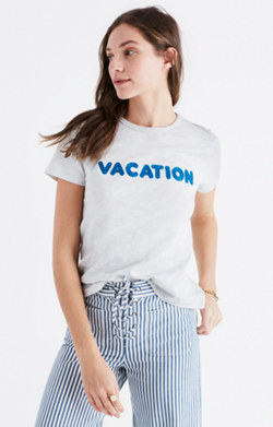 Embroidered Vacation Tee