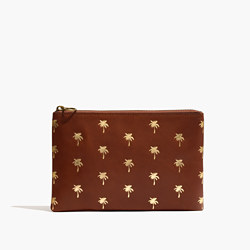 The Leather Pouch Clutch: Palm Tree Edition