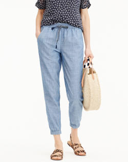 J.Crew Point Sur Seaside Pants in Chambray