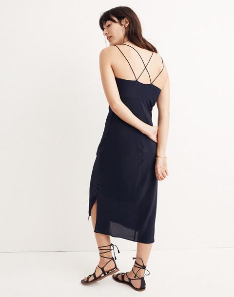 Silk Slip Dress in night vision image 3